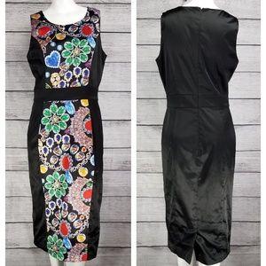 Tatyana Jewel print pencil dress Retro Pinup M